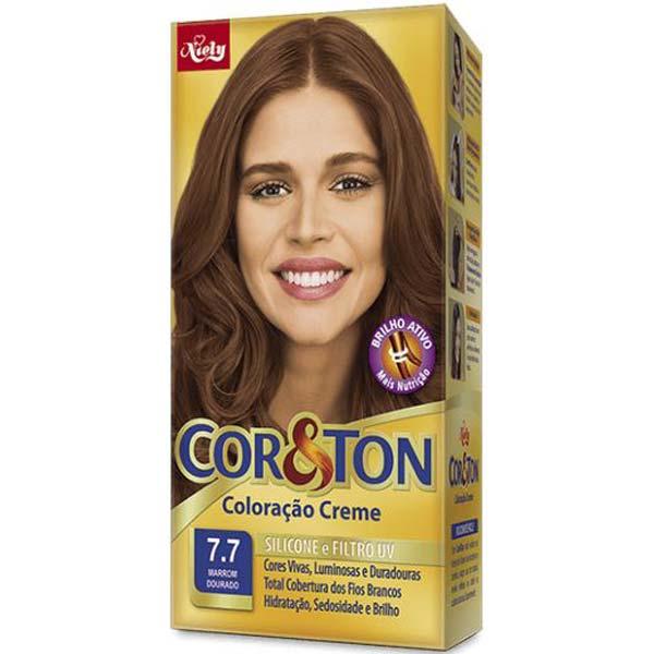 TINTURA COR&TON 50 G 7.7 MARRON DOURADO