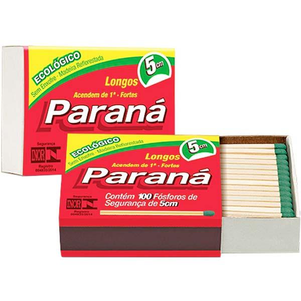 FÓSFORO PARANÁ ECOLÓGICO PACOTE COM20X100 PALITOS