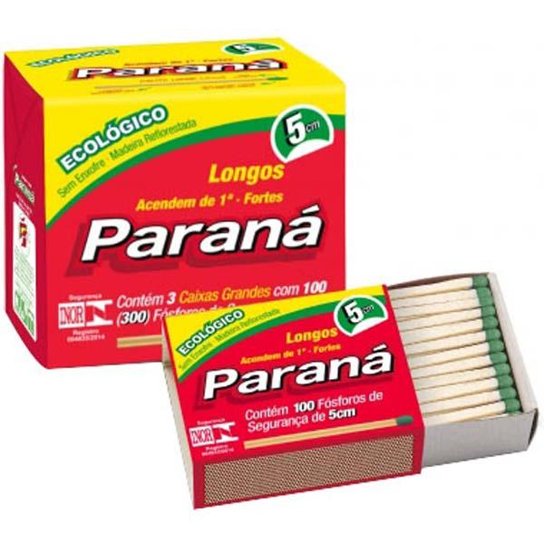 FÓSFORO PARANÁ ECOLÓGICO FAMÍLIA PACOTE COM20 X 300 PALITOS
