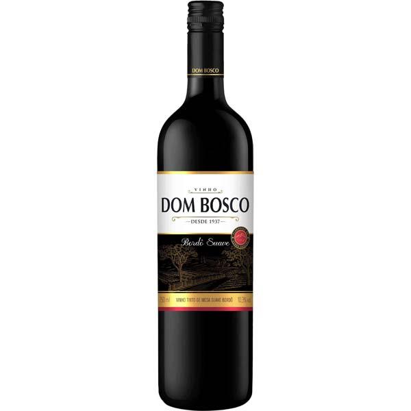 VINHO DOM BOSCO BORDÔ 750ML TINTO SUAVE BRASIL